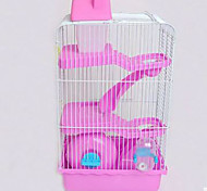Rodents Cages Plastic Blue Brown Pink