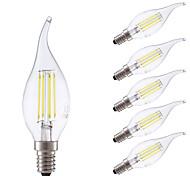 3.5 E14 Lampadine LED a incandescenza B 4 COB 400/350 lm Bianco caldo Luce fredda Intensità regolabile AC 220-240 V 6 pezzi