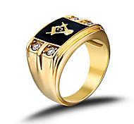 Муж. Классические кольца Мода Камни по месяцу рождения бижутерия Нержавеющая сталь Стразы Искусственный бриллиант Бижутерия Назначение