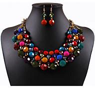 Gioielli 1 collana 1 paio di orecchini Zirconi Quotidiano Resina 1 Set Da donna Viola Multicolore Regali di nozze