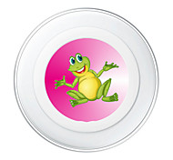 Portable  5V 2A Cute Frog Wireless Charging Pad/Stand for All QI-Enabled Devices Samsung Galaxy S7  S7 Edge S6   S6 EdgeGoogle Nexus 4  5
