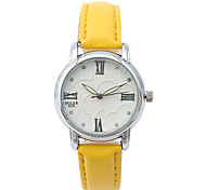 Women's Fashion Watch Quartz / Leather Band Casual White Green Blue Blushing Pink Light Blue Black/White