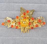 Spring Festival Classic/Traditional Lolita Headwear Vintage Inspired Golden Lolita Accessories 1pc