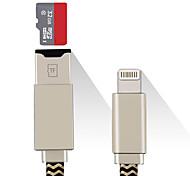 SENKAMA MicroSD/MicroSDHC/MicroSDXC/TF Tout-en-un OTG USB 2.0 MicroUSB Pomme de foudre