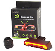 Bike Lights LED Laser LED Cycling Remote Control Super Light Lithium Battery Lumens Battery Red Yellow Cycling/Bike Outdoor