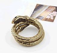 Women's Bangles Rhinestone Alloy Rock Handmade Statement Jewelry Punk Fashion Snake Gold Jewelry 1pc
