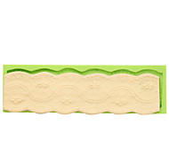 Пирог стиль барокко в стиле силиконовой помадной формы широкий торт границы украшения формы случайный цвет