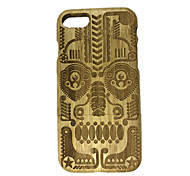 Para En Relieve Funda Cubierta Trasera Funda Calavera Dura Madera para Apple iPhone 7