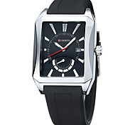 CURREN Rubber Belt Fashion Square Calendar Watch