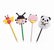 Cartoon Style Plastic/Cloth/Ribbon Handmade Craft BallPoint Pen