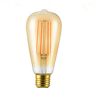 4W E26/E27 Bombillas de Filamento LED ST64 4 SMD 5730 350 lm Blanco Cálido Decorativa V 1 pieza