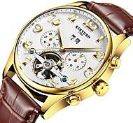 Da uomo Orologio elegante Orologio scheletro Orologio alla moda Orologio da polso orologio meccanico Carica automaticaCalendario