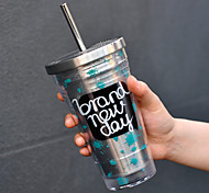 Novelty Drinkware 500 ml Heat-Insulated Portable Stainless Steel Plastic Juice Water Tumbler