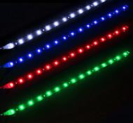 ziqiao 2pcs / lot 30cm 15 cms blanc lumières étanches haute puissance décoration auto voiture flexibles bandes dirigées