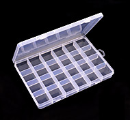 24 Grid Transparent Color Ornament Storage Box