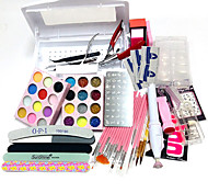 Disinfection Nail Tool Box 100Pcs Nail Tips Painting Pen Carve Patterns  Designs  Rubber Seal Plate 15 Pens Tool Kit