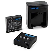 TELESIN YI-B&C-201 Charger Battery For Xiaomi Camera Universal Ski/Snowboarding Bike/Cycling SkyDiving Surfing/SUP Rock Climbing Travel