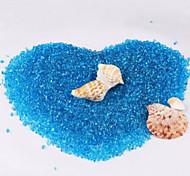 Aquarium Decoration Background Artificial Glass Blue 0.5kg