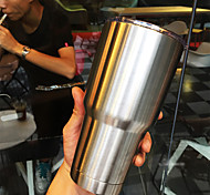 Stainless Steel Double Wall Tumbler, Large Coffee Mug / Travel Mug for Hot and Cold Drink,30 Oz
