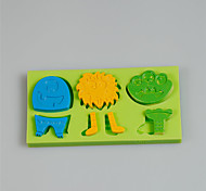 Творческие подарки мультфильм животных серии торт украшение силиконовые формы с цветом случайным
