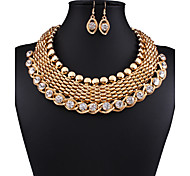 Fashion necklace set manual winding ShanZuan fashion female with chain exaggerated clavicle chain 0227 #