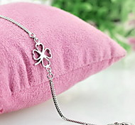 Chain Bracelet Silver Plated Fashion Flower Silver Jewelry 1pc