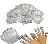 50Pcs/Lot Aluminium Foil Nail Art Soak Off Acrylic Gel Polish Nail Removal Wraps Remover Makeup Tool