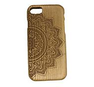 Für Geprägt Hülle Rückseitenabdeckung Hülle Blume Hart Holz für Apple iPhone 7
