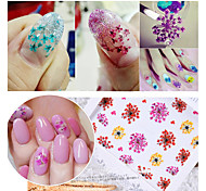 2pcs 3D Manicure Simulation Flower Nail Stickers