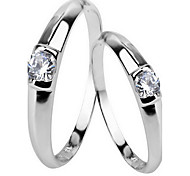 Ring Jewelry Sterling Silver Zircon Cubic Zirconia Classic Fashion Silver Jewelry Party Daily 1pc
