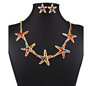 The star shape han edition collocation necklace set # 0303