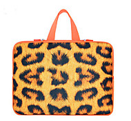 For MacBook Air Pro 11.3'' 13.6'' 15.4'' Laptop Sleeves Waterproof  Soft Cover NoteBook Handbags Flexible Leopard Print Thickening Plus Velvet