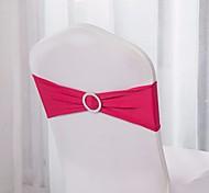 10pcs спандекс стул полосы спандекс стул створка стрейч лайкра стул полосы с пряжкой свадебное украшение