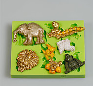 7 Cavity Different Animal Shapes Home Made Art & Craft Silicone Clay Molds For Kids