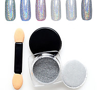 1PC Nail Art The Magic Mirror Powder 7 Colour Silver 1g Box  With Swab