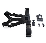 TELESIN Universal Mobile Phone Chest Mount Harness Strap Holder with Cell Phone Clip for Smartphone POV Video for Outdoor Sports