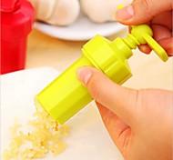 New Kitchen Ginger Garlic Manual Press Twist Cutter Crusher Cooking Tool Plastic Garlic Presses Blenders Peeler Random Color