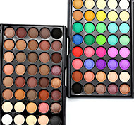 40Color/1Pcs Makeup Lots Glitter Matte Eyeshadow  Waterproof Bronzer Naked Palette Eye Shadow Nude Cosmetics