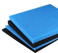 acuario filtro de espuma / esponja de espuma de 45x45cm pecera filtración negro universal de la almohadilla de filtro de bioquímica