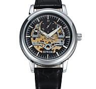 Men's Women's Unisex Sport Watch Dress Watch Fashion Watch Mechanical Watch Wrist watch Mechanical manual-winding Genuine Leather Band