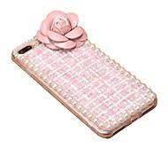 Para Manualidades Funda Cubierta Trasera Funda Un Color Suave Textil para Apple iPhone 7 Plus iPhone 7