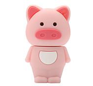 rosa disco de 128 GB unidad flash USB 2.0 de caucho lechón