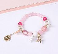 Charm Bracelet Crystal Resin Fashion Flower Star Crown Animal Shape Jewelry Daisy Pink Jewelry 1pc
