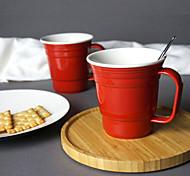 Стаканы, 400 Керамика Телесный Вода Кофейные чашки