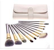 12pcs Contour Brush Makeup Brush Set Blush Brush Eyeshadow Brush Lip Brush Eyeliner Brush Eyelash Brush Concealer Brush Fan Brush Powder