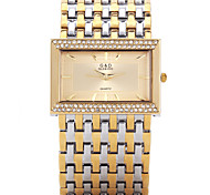 Fashion Watch Quartz Alloy Band Silver Gold