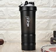 Classic Sports Drinkware with pill box, 650 ml BPA Free Plastic protain powder shake Water Bottle with Blendball