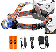 U'King® ZQ-X830BL#-EU CREE XML-T6 LED 2000LM Zoomable 180 Rotate 3Modes Headlamp Bike Light Kits with Rear Safety LED
