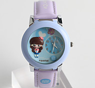Women's Fashion Watch Quartz / Silicone Band Cartoon Casual White Blue Green Purple Brand