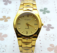 Men's Fashion Watch Quartz Stainless Steel Band Charm Casual Gold